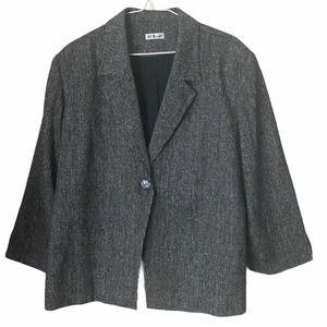 Ann May Vintage Woven Silk Blazer